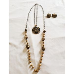 Chico's layered necklace with earrings